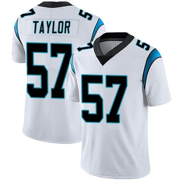 Youth Nike Carolina Panthers Adarius Taylor White Vapor Untouchable Jersey - Limited