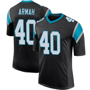 Youth Nike Carolina Panthers Alex Armah Black Team Color 100th Vapor Untouchable Jersey - Limited