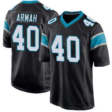 Youth Nike Carolina Panthers Alex Armah Black Team Color Jersey - Game