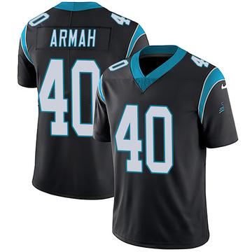 Youth Nike Carolina Panthers Alex Armah Black Team Color Vapor Untouchable Jersey - Limited