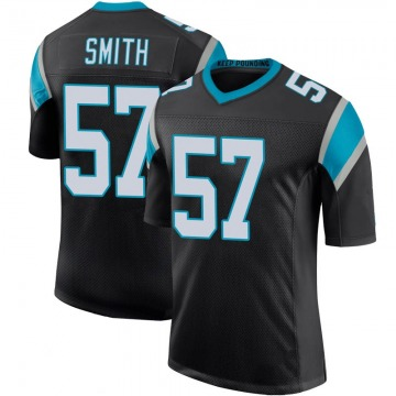 Youth Nike Carolina Panthers Andre Smith Black Team Color 100th Vapor Untouchable Jersey - Limited