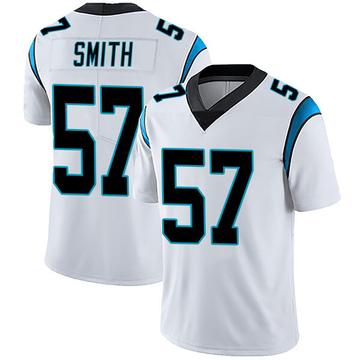 Youth Nike Carolina Panthers Andre Smith White Vapor Untouchable Jersey - Limited