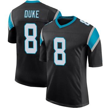 Youth Nike Carolina Panthers Austin Duke Black Team Color 100th Vapor Untouchable Jersey - Limited