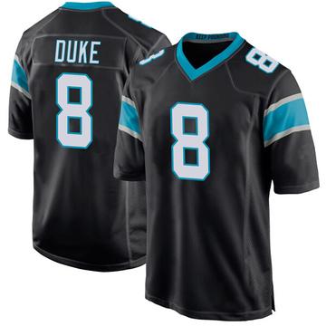 Youth Nike Carolina Panthers Austin Duke Black Team Color Jersey - Game
