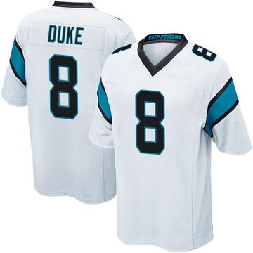 Youth Nike Carolina Panthers Austin Duke White Jersey - Game