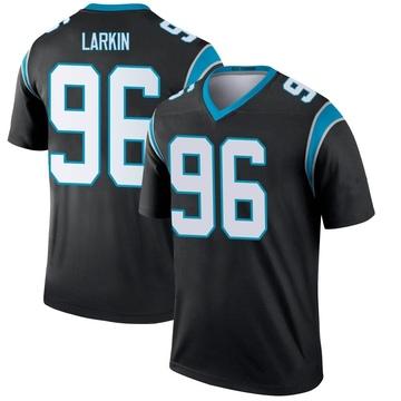 Youth Nike Carolina Panthers Austin Larkin Black Jersey - Legend