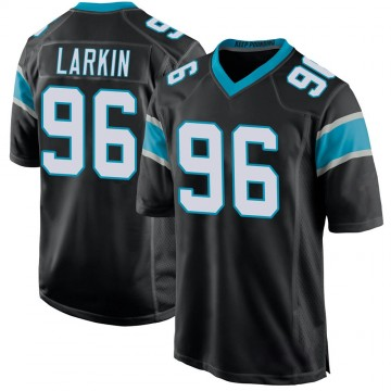 Youth Nike Carolina Panthers Austin Larkin Black Team Color Jersey - Game