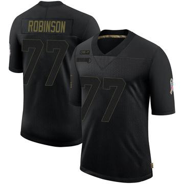Youth Nike Carolina Panthers Austrian Robinson Black 2020 Salute To Service Jersey - Limited