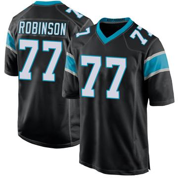Youth Nike Carolina Panthers Austrian Robinson Black Team Color Jersey - Game