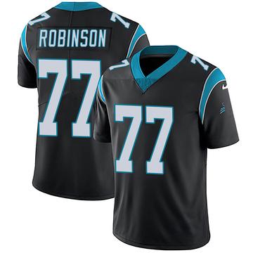 Youth Nike Carolina Panthers Austrian Robinson Black Team Color Vapor Untouchable Jersey - Limited
