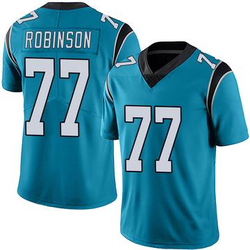 Youth Nike Carolina Panthers Austrian Robinson Blue Alternate Vapor Untouchable Jersey - Limited