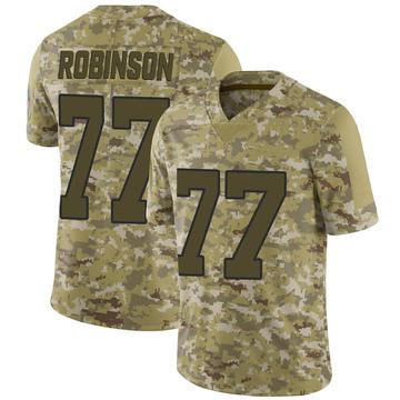 Youth Nike Carolina Panthers Austrian Robinson Camo 2018 Salute to Service Jersey - Limited