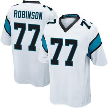 Youth Nike Carolina Panthers Austrian Robinson White Jersey - Game