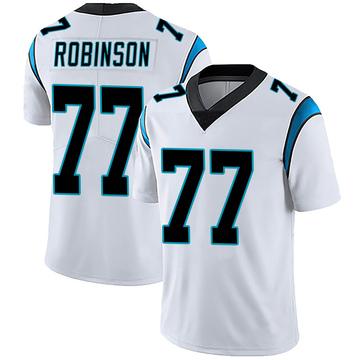 Youth Nike Carolina Panthers Austrian Robinson White Vapor Untouchable Jersey - Limited