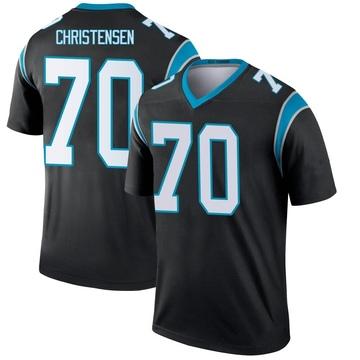 Youth Nike Carolina Panthers Brady Christensen Black Jersey - Legend