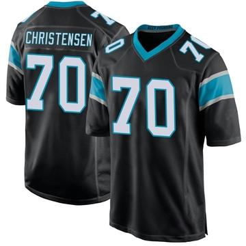 Youth Nike Carolina Panthers Brady Christensen Black Team Color Jersey - Game