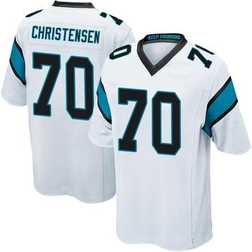 Youth Nike Carolina Panthers Brady Christensen White Jersey - Game