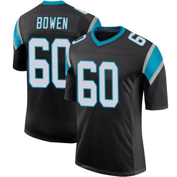 Youth Nike Carolina Panthers Branden Bowen Black Team Color 100th Vapor Untouchable Jersey - Limited