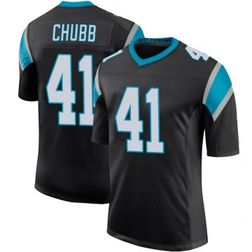 Youth Nike Carolina Panthers Brandon Chubb Black Team Color 100th Vapor Untouchable Jersey - Limited