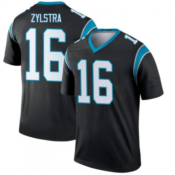 Youth Nike Carolina Panthers Brandon Zylstra Black Jersey - Legend
