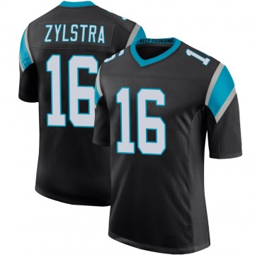 Youth Nike Carolina Panthers Brandon Zylstra Black Team Color 100th Vapor Untouchable Jersey - Limited