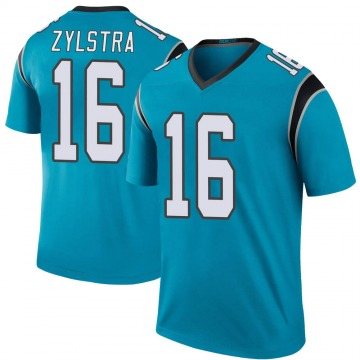 Youth Nike Carolina Panthers Brandon Zylstra Blue Color Rush Jersey - Legend