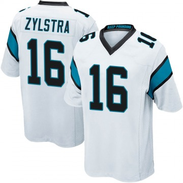 Youth Nike Carolina Panthers Brandon Zylstra White Jersey - Game