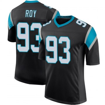 Youth Nike Carolina Panthers Bravvion Roy Black Team Color 100th Vapor Untouchable Jersey - Limited