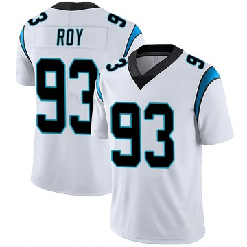 Youth Nike Carolina Panthers Bravvion Roy White Vapor Untouchable Jersey - Limited