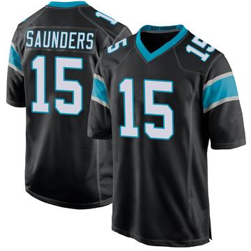 Youth Nike Carolina Panthers C.J. Saunders Black Team Color Jersey - Game