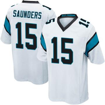 Youth Nike Carolina Panthers C.J. Saunders White Jersey - Game
