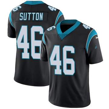 Youth Nike Carolina Panthers Cam Sutton Black Team Color Vapor Untouchable Jersey - Limited