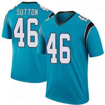 Youth Nike Carolina Panthers Cam Sutton Blue Color Rush Jersey - Legend