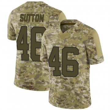 Youth Nike Carolina Panthers Cam Sutton Camo 2018 Salute to Service Jersey - Limited