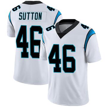 Youth Nike Carolina Panthers Cam Sutton White Vapor Untouchable Jersey - Limited