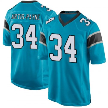 Youth Nike Carolina Panthers Cameron Artis-Payne Blue Alternate Jersey - Game