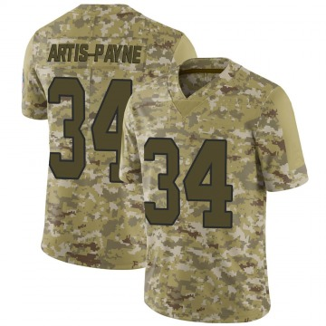 Youth Nike Carolina Panthers Cameron Artis-Payne Camo 2018 Salute to Service Jersey - Limited