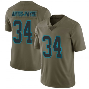 Youth Nike Carolina Panthers Cameron Artis-Payne Green 2017 Salute to Service Jersey - Limited