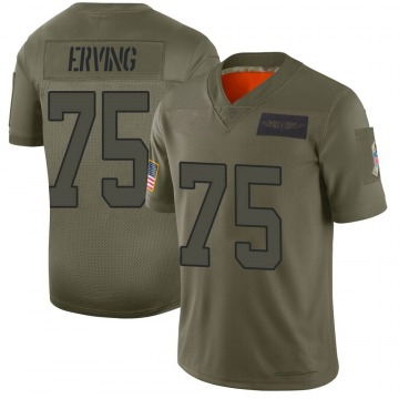 Youth Nike Carolina Panthers Cameron Erving Camo 2019 Salute to Service Jersey - Limited