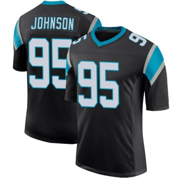 Youth Nike Carolina Panthers Charles Johnson Black Team Color 100th Vapor Untouchable Jersey - Limited