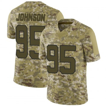 Youth Nike Carolina Panthers Charles Johnson Camo 2018 Salute to Service Jersey - Limited