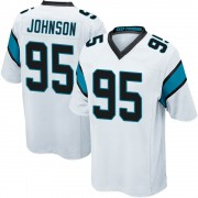 Youth Nike Carolina Panthers Charles Johnson White Jersey - Game