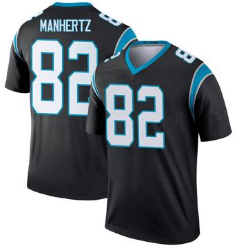 Youth Nike Carolina Panthers Chris Manhertz Black Jersey - Legend