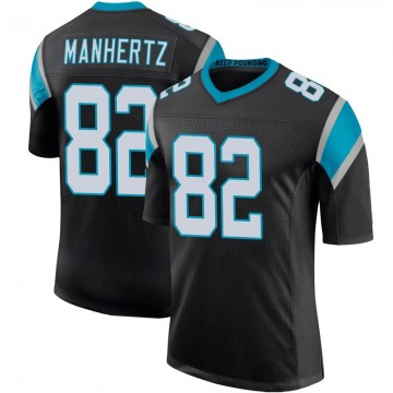 Youth Nike Carolina Panthers Chris Manhertz Black Team Color 100th Vapor Untouchable Jersey - Limited