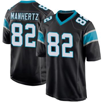 Youth Nike Carolina Panthers Chris Manhertz Black Team Color Jersey - Game