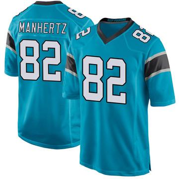 Youth Nike Carolina Panthers Chris Manhertz Blue Alternate Jersey - Game