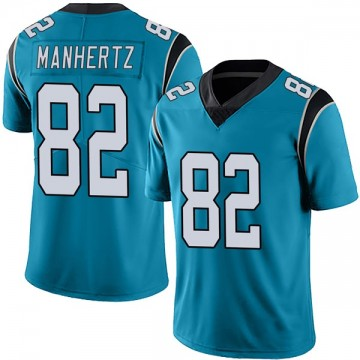 Youth Nike Carolina Panthers Chris Manhertz Blue Alternate Vapor Untouchable Jersey - Limited