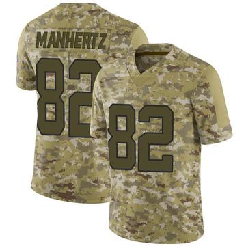 Youth Nike Carolina Panthers Chris Manhertz Camo 2018 Salute to Service Jersey - Limited