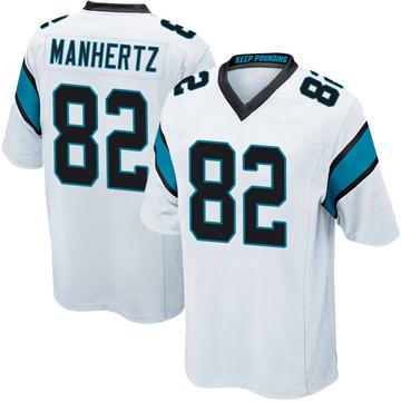 Youth Nike Carolina Panthers Chris Manhertz White Jersey - Game