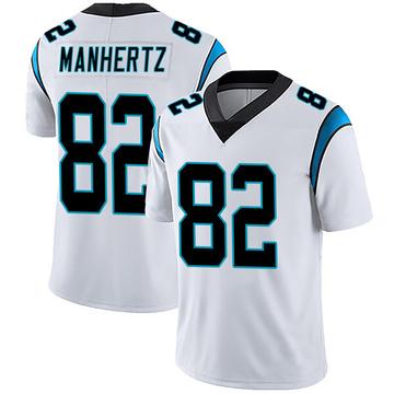 Youth Nike Carolina Panthers Chris Manhertz White Vapor Untouchable Jersey - Limited